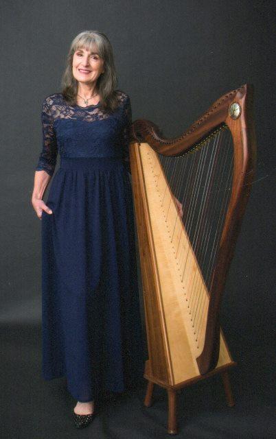 Christina with harp image