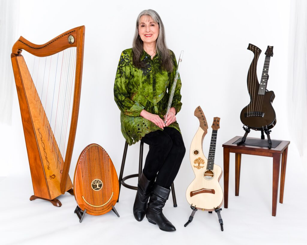Christina with instruments